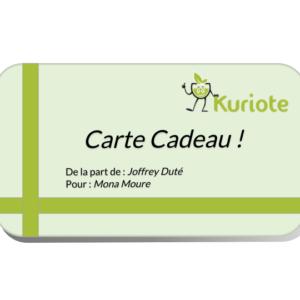 Carte Cadeau Thé Kuriote