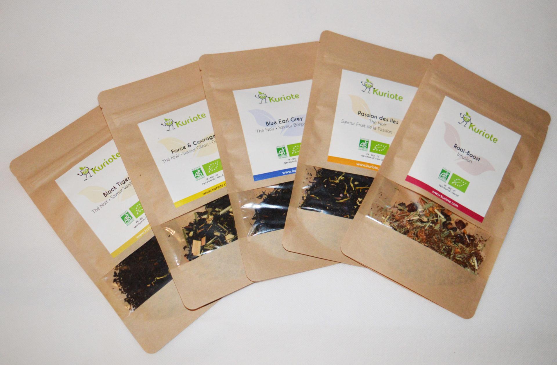 Le thé aromatisé bio de Kuriote, découvrez la gamme